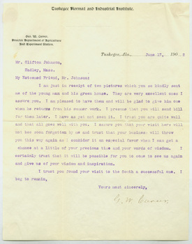June 17, 1902 letter from George Washington Carver