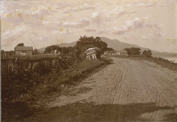 The approach to the Village