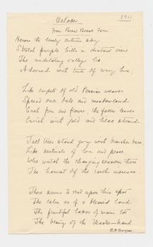 Ruth Burgess handwritten poem