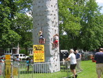 Climbing wall at Taste of Amherst