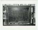 Tally board from the Jones Library inventory, January 1977