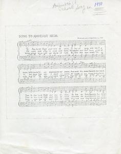 amherst high school song_1910_amherst high school song music and lyrics page.jpg