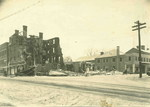 Ruins of the Amherst House after the 1926 fire